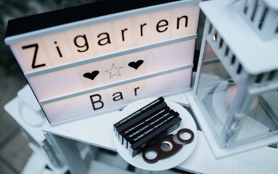 Zigarren – oder Brandybar – endlich wird die Hochzeit männlich