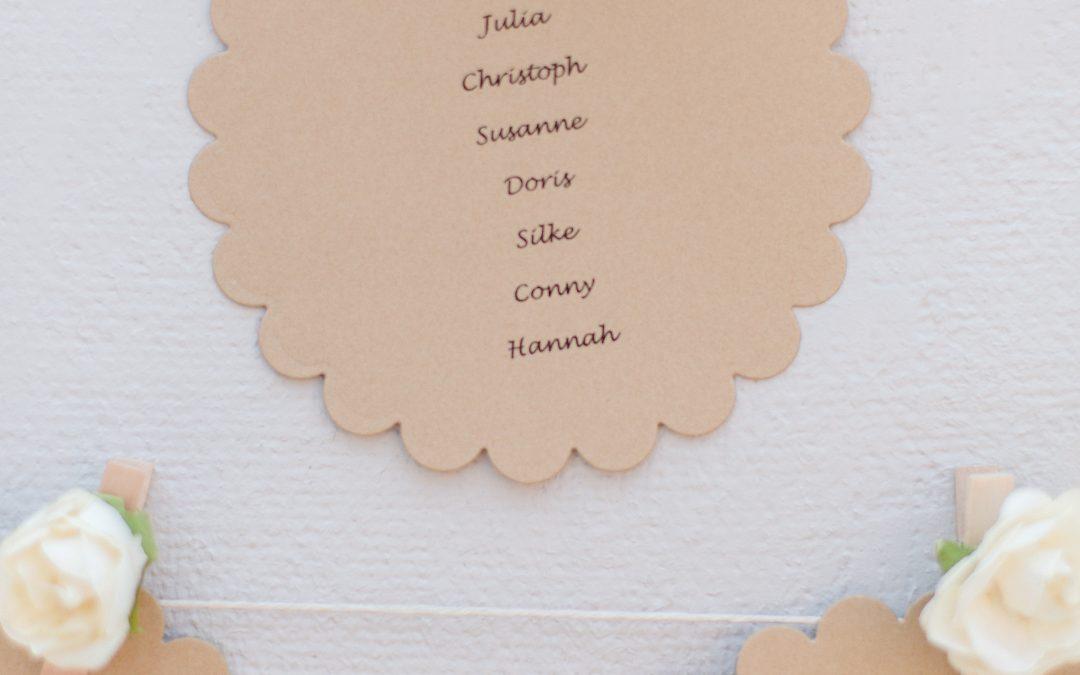 Der perfekte Sitzplan für meine Hochzeit in Wittenberg